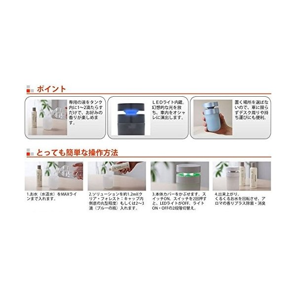 アロボ 空気洗浄機(車載対応タイプ シルバー)arobo Watering Air Refresher CLV-1300-SV