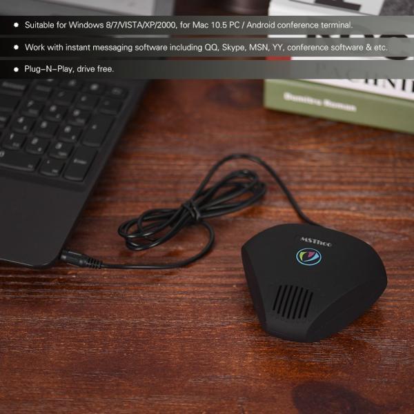 スピーカーフォン Aibecy MST-M1卓上マイク 通話マイク 全(無)指向性 集音 web 会議用 PC マイク 3.5mmプラグアン