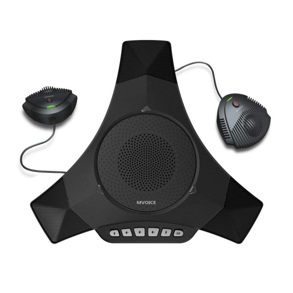 Meeteasy MVOICE 8000 EX-B 拡張マイク接続可能 Web会議用Bluetooth マイクスピーカーフォン 大型・高機能