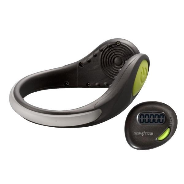 ジェントス LED セーフティクリップ 緑 数量限定 ・ デジタル簡易型歩数計付き AX-700GR
