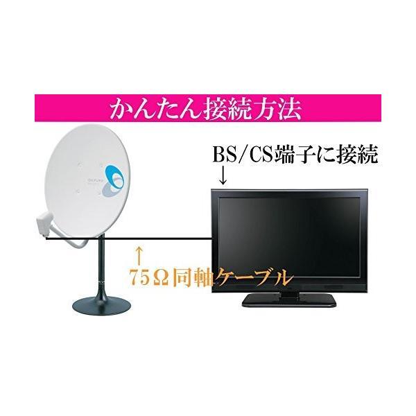 室内用 BSアンテナセット BC45AS MHF-500 4K・8K対応 加工済10mケーブル付き