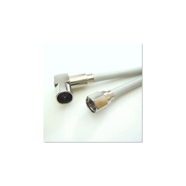 両端コネクター付TVケーブル・L型×F型接栓2m