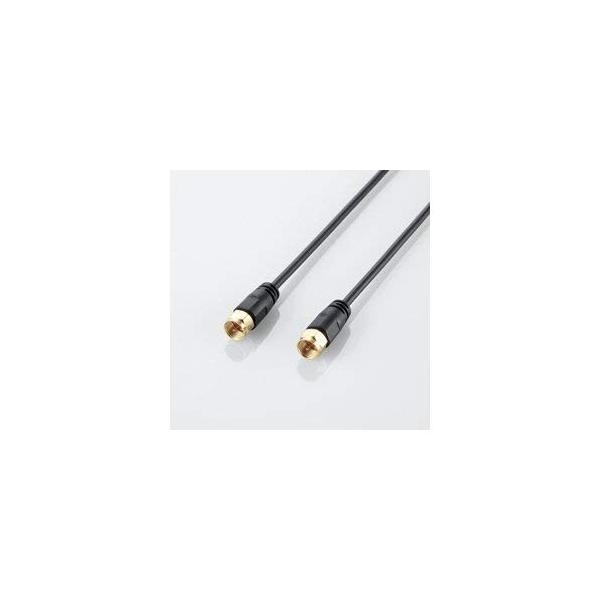 まとめ 10セット エレコム アンテナケーブル(ネジ式-ネジ式) AV-ATNN70BK