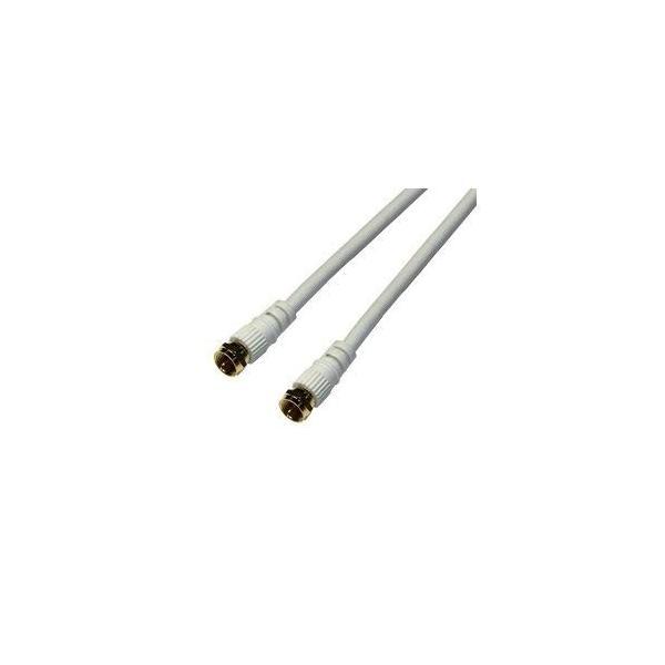 まとめ 10セット HORIC アンテナケーブル 1m ホワイト 両側F型ネジ式コネクタ ストレート/ストレートタイプ HAT10-914S