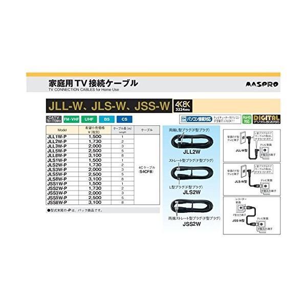 マスプロ TV接続ケーブル 2m 品番JLL2W-P