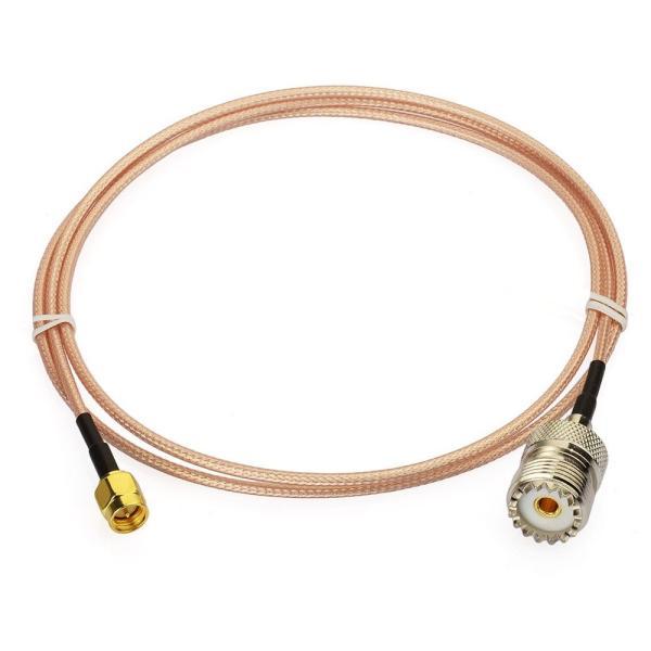 Superbat M型-SMA 変換ケーブル MJ-SMAP (RG316 100CM)高品質・高耐久 ハンディ機用 同軸ケーブル 受信機用