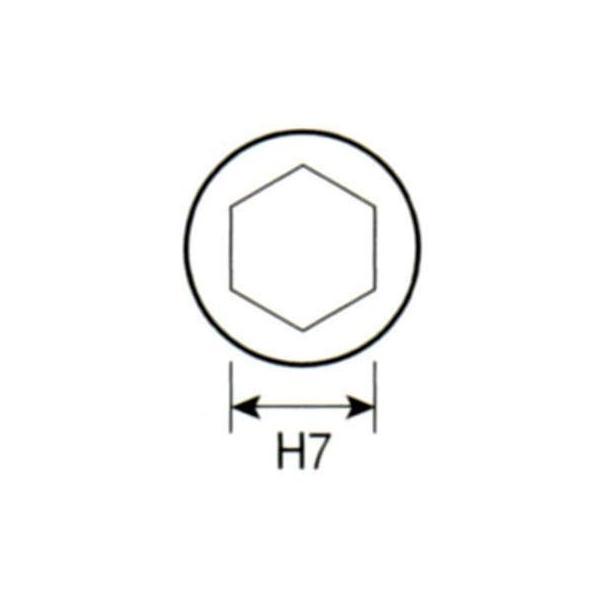 ベッセル マグネット入りソケットビット 対辺7×55(ネジ径4mm用) (1本) 品番:MA20-7.0-55