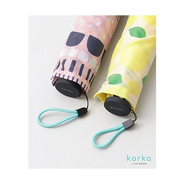 アメメ 傘 korko スリムライト折り畳み傘 レディース エルサ -