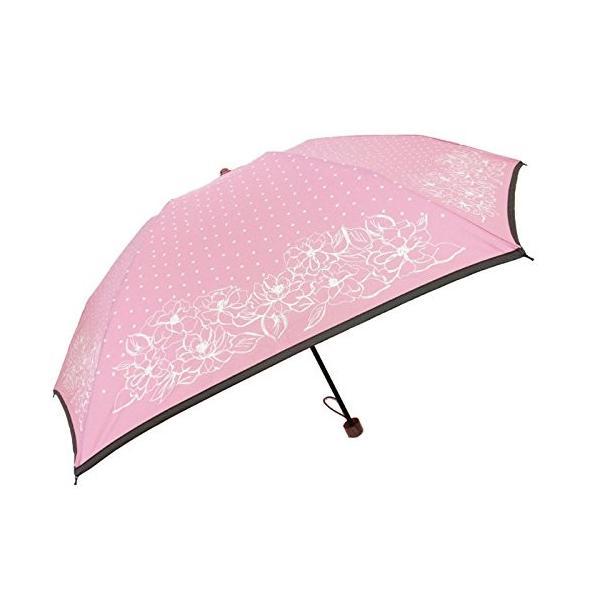 雨傘婦人傘 KENSHO ABE FEMME(ケンショー アベ ファム) レディース・ウィメンズ フラワー スケッチ 折りたたみ傘 55cm