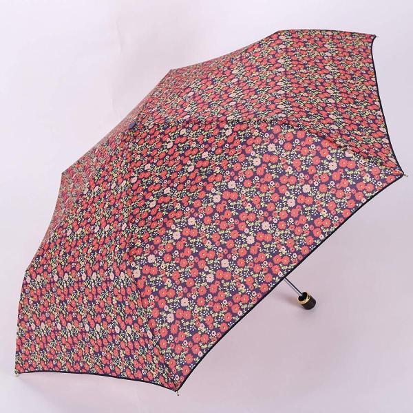 PUK00016 ネイビー 雨傘 折りたたみ傘 レディース 花柄 大人気 おしゃれ 可愛い 軽量