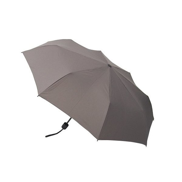 hands+ 風に強い簡単開閉 折りたたみ傘 60cm グレー
