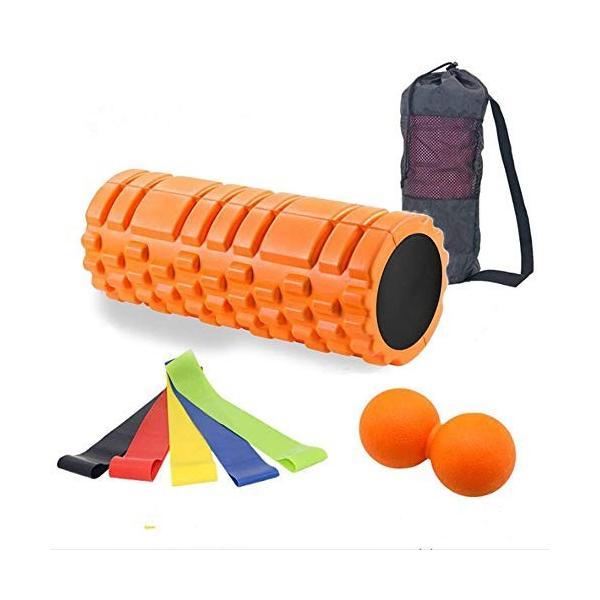 最新版セットフォームローラー 筋膜リリース エクササイズ フォームローラー 腰痛・肩コリ・筋肉痛を改善トリガーポイントヨガポール ストレッチ|orsshop