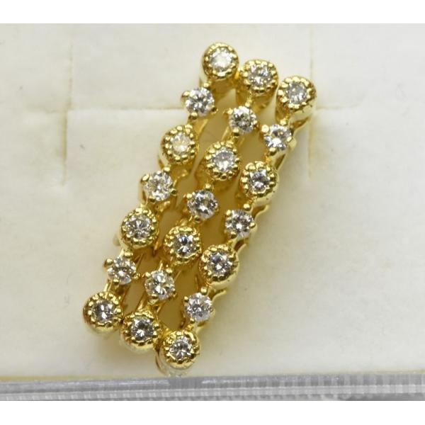 K18 ゴールド 合計 0.42ct ダイヤモンド ペンダントトップ|osaka-jewelry