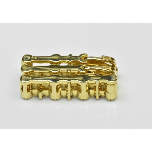 K18 ゴールド 合計 0.42ct ダイヤモンド ペンダントトップ|osaka-jewelry|04