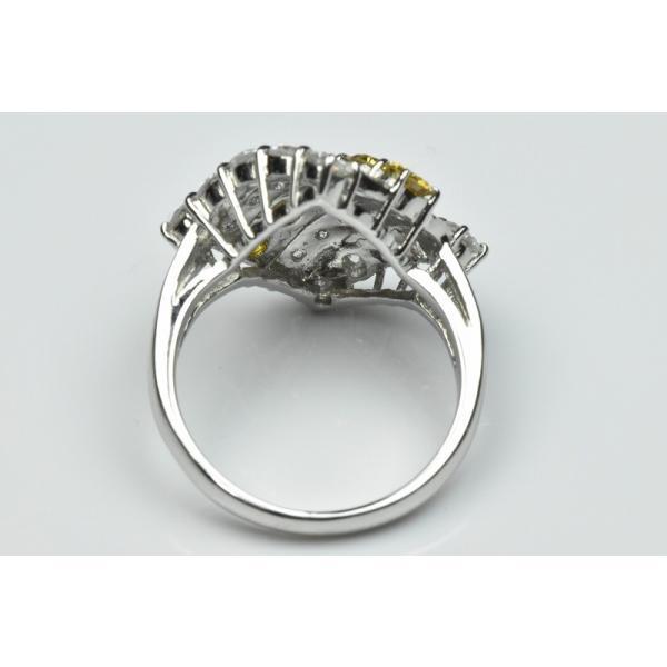 Pt900 ゴージャス イエローダイヤモンド リング 9号 指輪|osaka-jewelry|05
