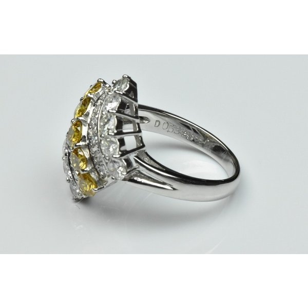 Pt900 ゴージャス イエローダイヤモンド リング 9号 指輪|osaka-jewelry|06