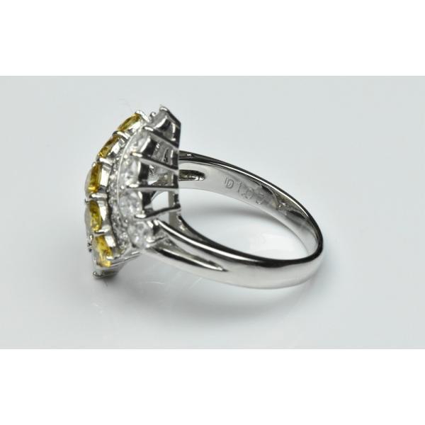 Pt900 ゴージャス イエローダイヤモンド リング 9号 指輪|osaka-jewelry|07