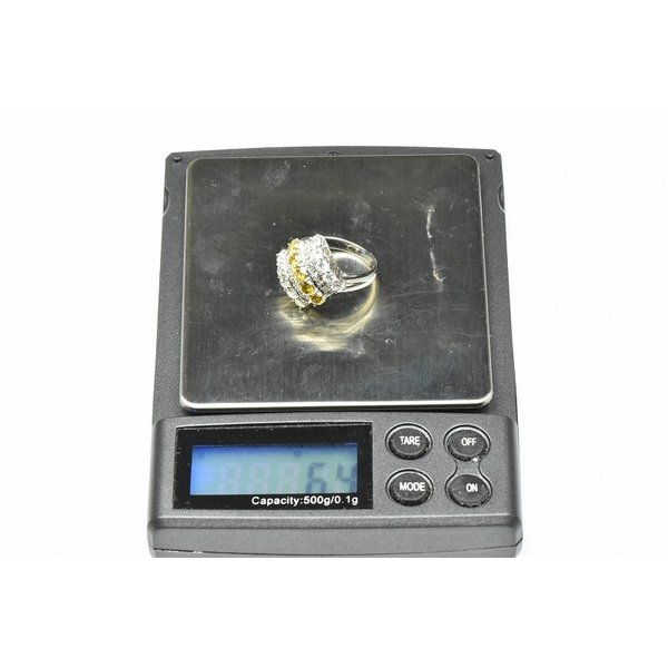 Pt900 ゴージャス イエローダイヤモンド リング 9号 指輪|osaka-jewelry|08