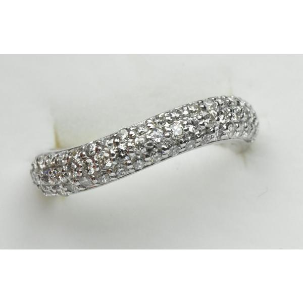 K18WG パヴェ 0.51ct ダイヤモンドリング 5号 指輪|osaka-jewelry