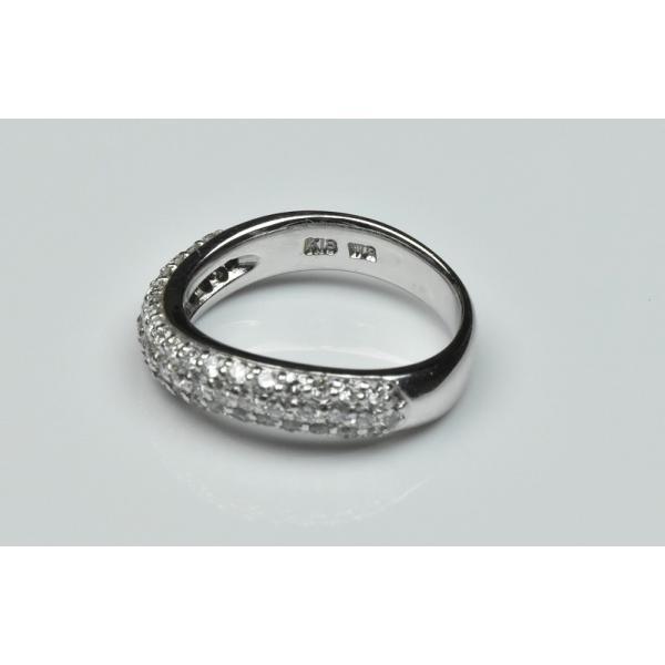 K18WG パヴェ 0.51ct ダイヤモンドリング 5号 指輪|osaka-jewelry|05
