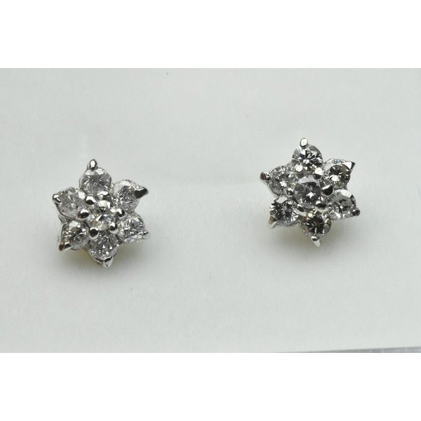 【ピアス】K18WG 合計 0.50ct ダイヤモンド osaka-jewelry
