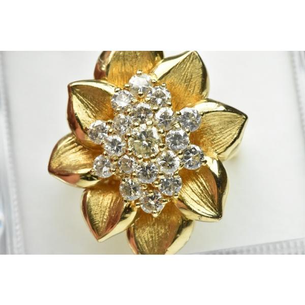 【鑑別】K18 ゴージャス 1.55ct ダイヤモンドリング 12.5号|osaka-jewelry