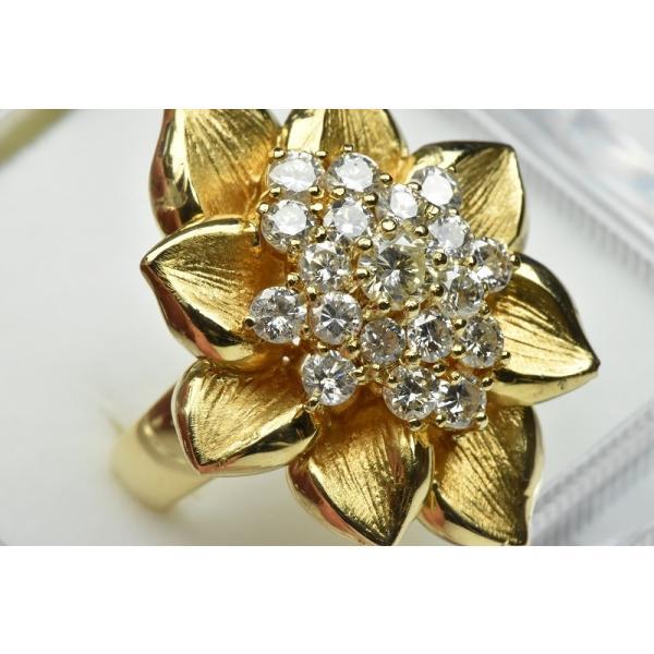 【鑑別】K18 ゴージャス 1.55ct ダイヤモンドリング 12.5号|osaka-jewelry|02