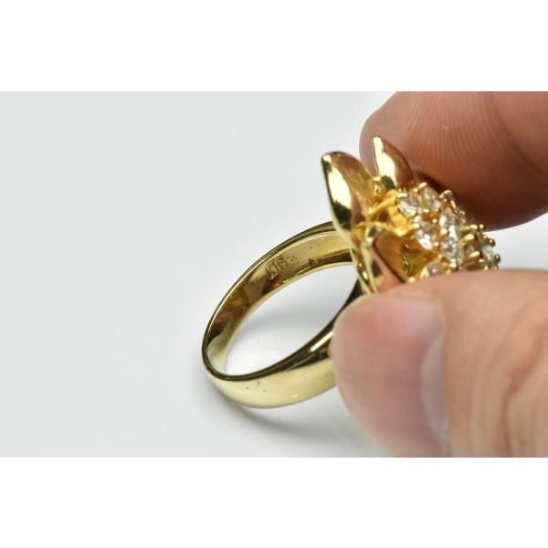 【鑑別】K18 ゴージャス 1.55ct ダイヤモンドリング 12.5号|osaka-jewelry|06