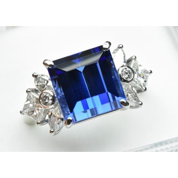 【田崎真珠】タサキ Pt900 綺麗 タンザナイト 6.38ct リング 11号|osaka-jewelry