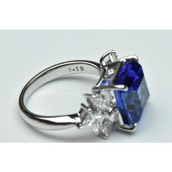 【田崎真珠】タサキ Pt900 綺麗 タンザナイト 6.38ct リング 11号|osaka-jewelry|10