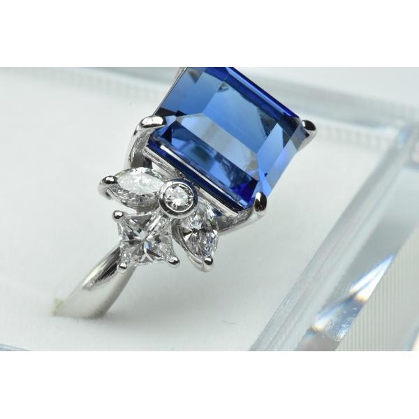 【田崎真珠】タサキ Pt900 綺麗 タンザナイト 6.38ct リング 11号|osaka-jewelry|02