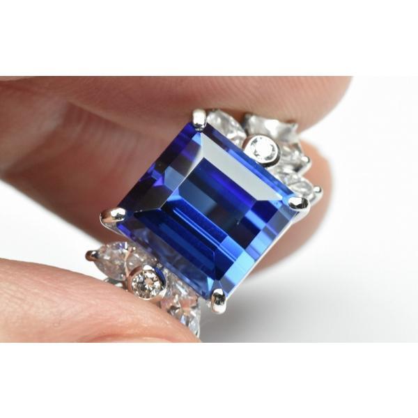 【田崎真珠】タサキ Pt900 綺麗 タンザナイト 6.38ct リング 11号|osaka-jewelry|03