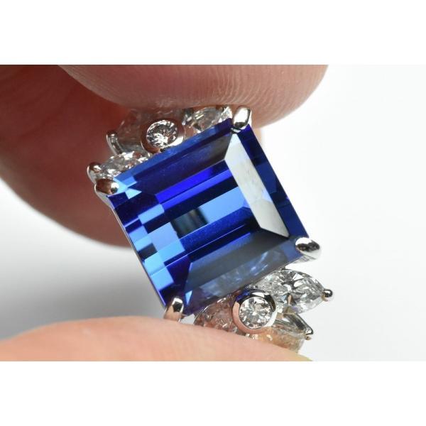 【田崎真珠】タサキ Pt900 綺麗 タンザナイト 6.38ct リング 11号|osaka-jewelry|04