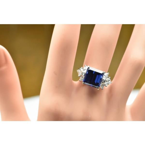 【田崎真珠】タサキ Pt900 綺麗 タンザナイト 6.38ct リング 11号|osaka-jewelry|05