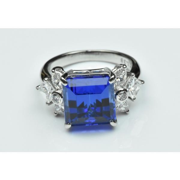 【田崎真珠】タサキ Pt900 綺麗 タンザナイト 6.38ct リング 11号|osaka-jewelry|07