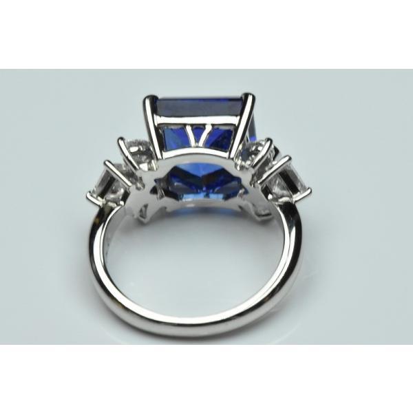【田崎真珠】タサキ Pt900 綺麗 タンザナイト 6.38ct リング 11号|osaka-jewelry|08
