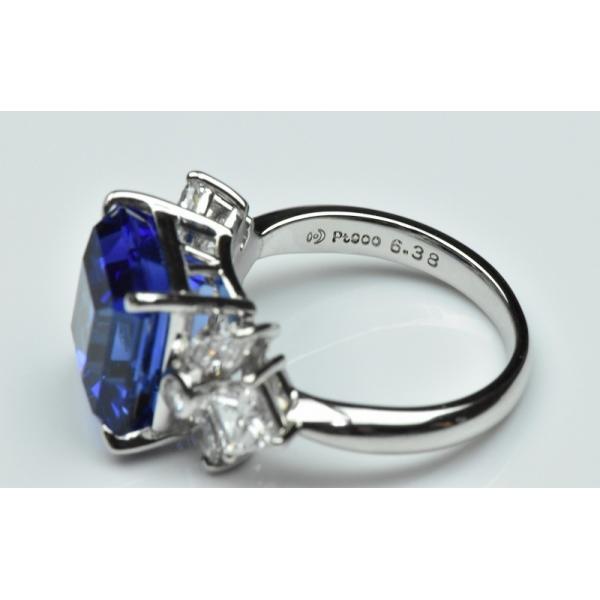 【田崎真珠】タサキ Pt900 綺麗 タンザナイト 6.38ct リング 11号|osaka-jewelry|09