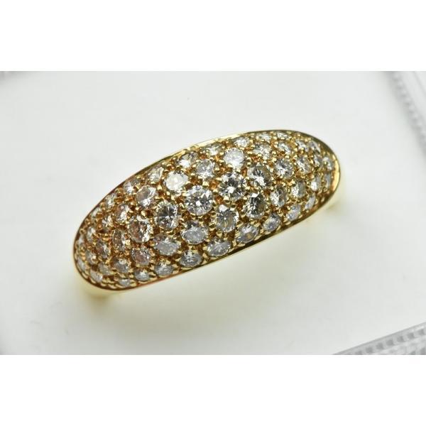 パヴェ K18 合計 1.00ct ダイヤモンドリング 13号 指輪|osaka-jewelry