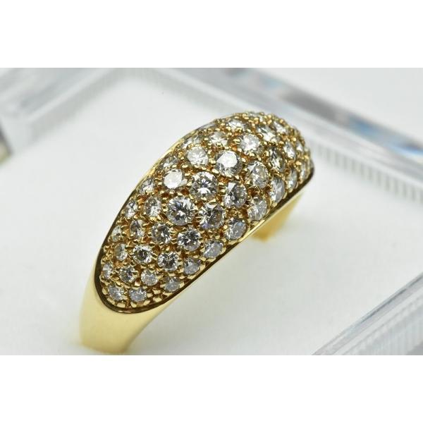 パヴェ K18 合計 1.00ct ダイヤモンドリング 13号 指輪|osaka-jewelry|02