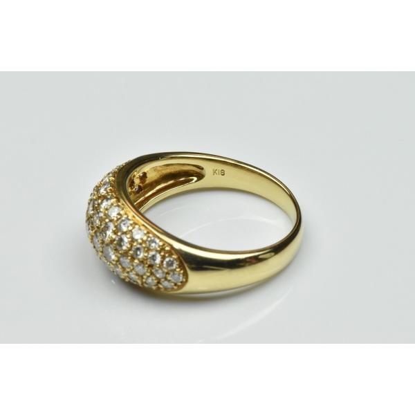パヴェ K18 合計 1.00ct ダイヤモンドリング 13号 指輪|osaka-jewelry|05