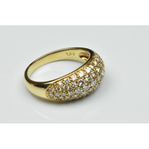 パヴェ K18 合計 1.00ct ダイヤモンドリング 13号 指輪|osaka-jewelry|06