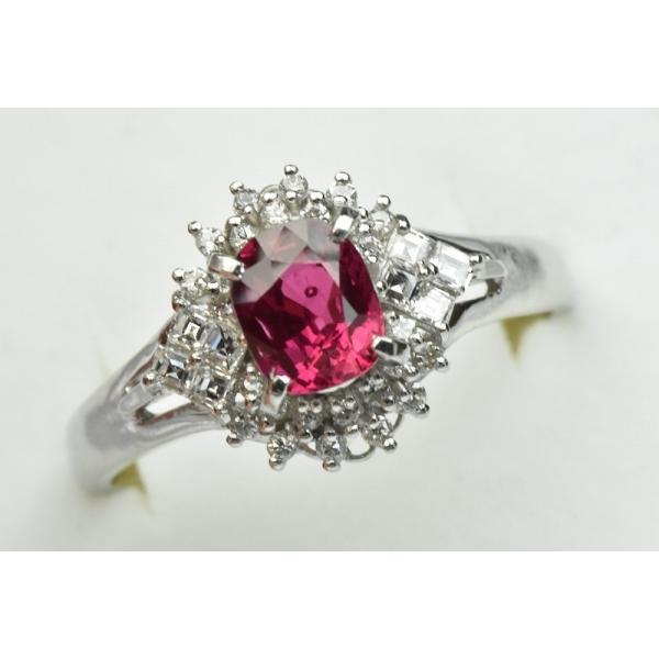 Pt900 ルビー 1.02ct ダイヤモンドリング 16号 指輪|osaka-jewelry