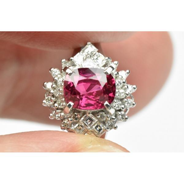 Pt900 ルビー 1.02ct ダイヤモンドリング 16号 指輪|osaka-jewelry|02