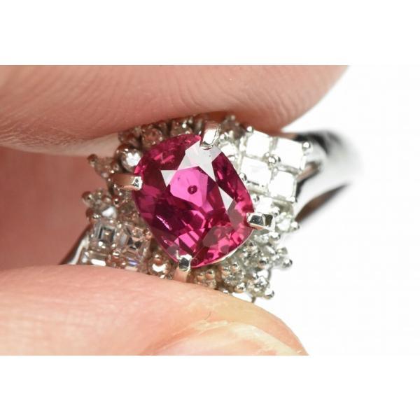 Pt900 ルビー 1.02ct ダイヤモンドリング 16号 指輪|osaka-jewelry|03