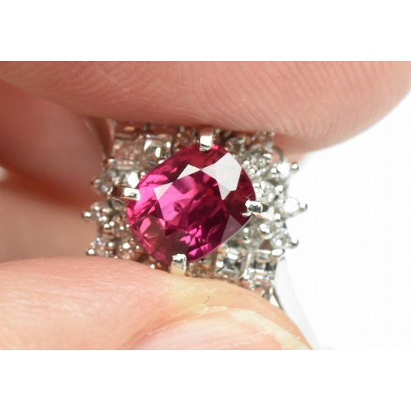 Pt900 ルビー 1.02ct ダイヤモンドリング 16号 指輪|osaka-jewelry|04