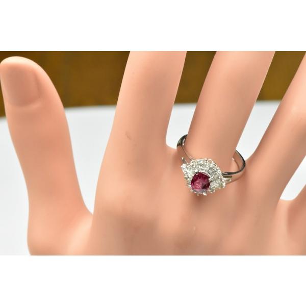 Pt900 ルビー 1.02ct ダイヤモンドリング 16号 指輪|osaka-jewelry|06
