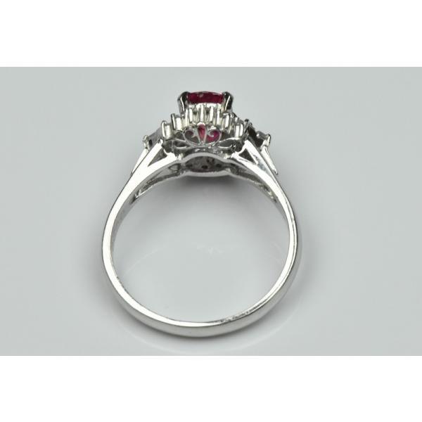 Pt900 ルビー 1.02ct ダイヤモンドリング 16号 指輪|osaka-jewelry|08