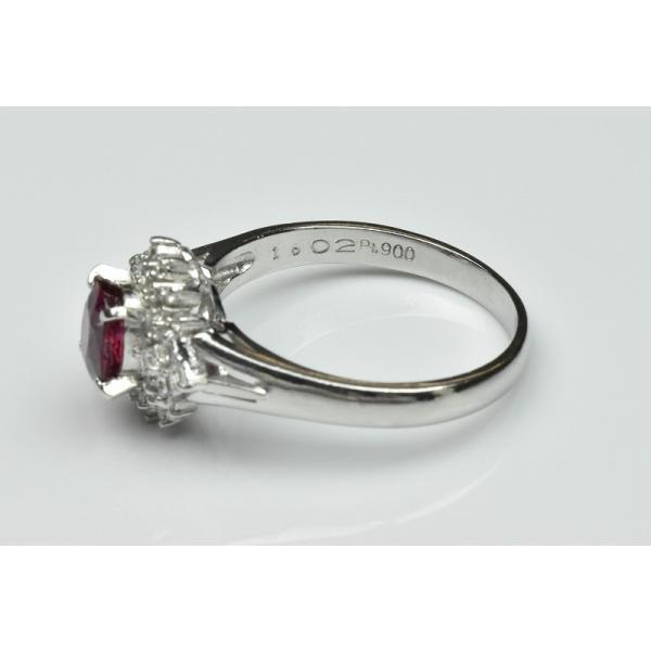 Pt900 ルビー 1.02ct ダイヤモンドリング 16号 指輪|osaka-jewelry|09