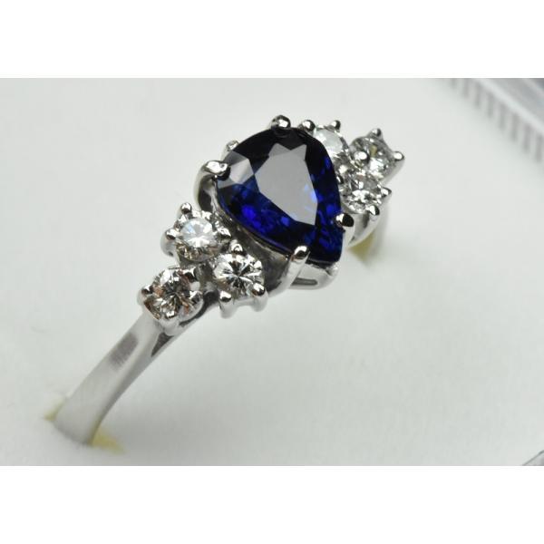 K18WG サファイア 0.85ct ダイヤモンドリング 10号 指輪|osaka-jewelry|02