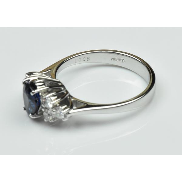 K18WG サファイア 0.85ct ダイヤモンドリング 10号 指輪|osaka-jewelry|07